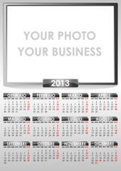 Calendario 2013 grigio