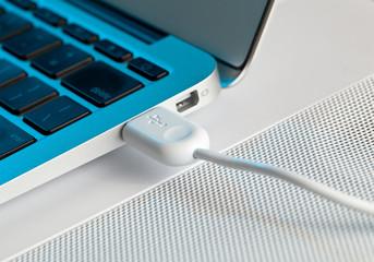 Macro shot of USB plug