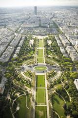 Paryż - panorama - Pola Marsowe