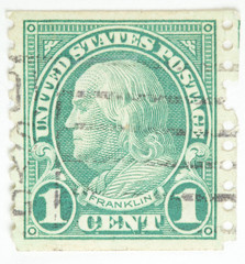 Benjamin Franklin. United States - circa 1922-1931