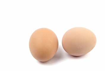 A pair of Hard Boiled Eggs