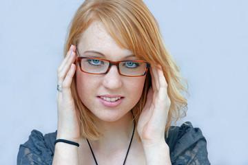 Eine Brille macht ein Gesicht noch hübscher
