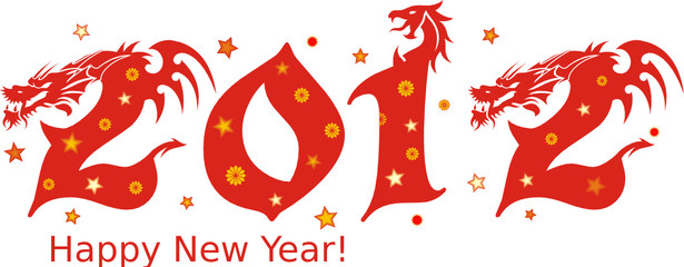 Happy new year! dragon 2012