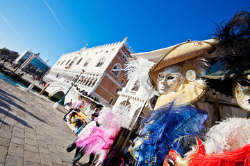 Venetian Masks and Palazzo Ducale