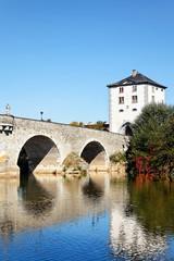 Alte Lahnbrücke in Limburg, Hessen / Deutschland