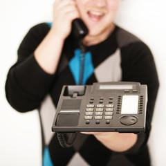 lachen am Telefon