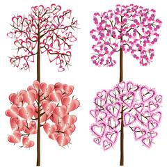 Set of love trees
