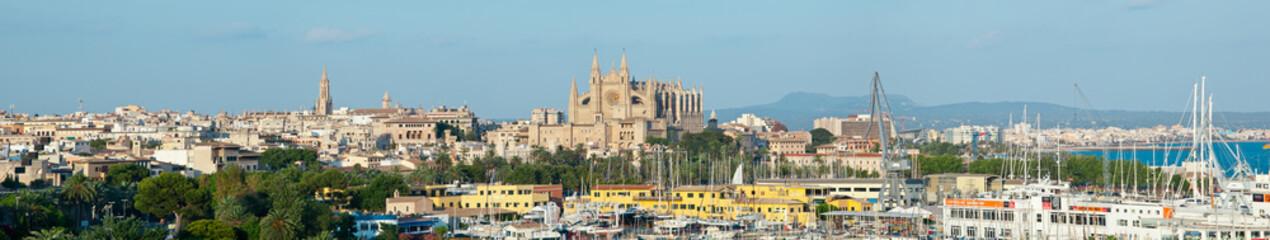 Foto panoramica di Palma De Mallorca