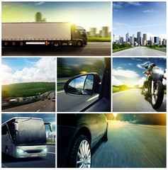 Fototapete - Traffic Compilation