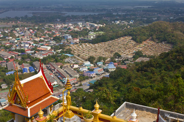 Top view of the tomb of the Chinese in Thailand.