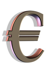 euro sign on white