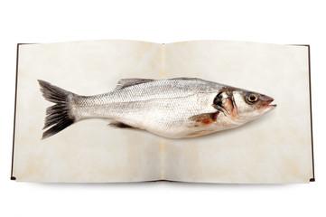 Wall Mural - pesce libro