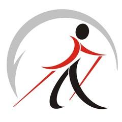 nordic walking logo stilizzato