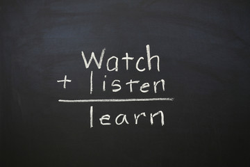 Watch Listen and Learn