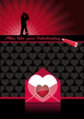 Vorlage Plakat Valentinstag