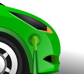 Elektroauto mit Steckdose