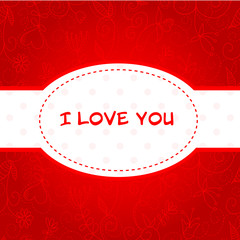 Lovely Valentine's Day floral postcard