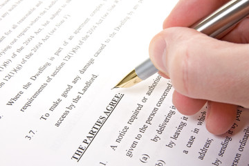 customer read and sign agreement