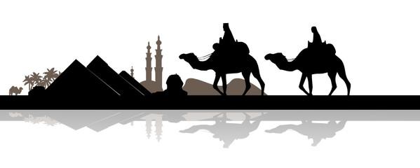 Skyline Ägypten mit Pyramiden