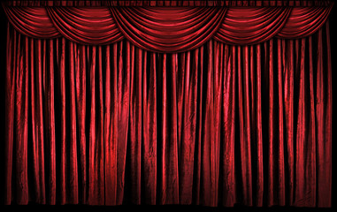 Wall Mural - Red Stage Curtains