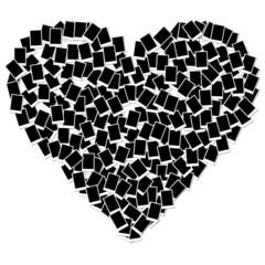 heart shape photo frame isolated on white