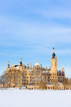 Schweriner Schloss im Winter 2