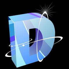 Buchstabe futuristisch - D