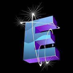 Buchstabe futuristisch - E