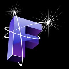 Buchstabe futuristisch - F