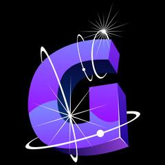 Buchstabe futuristisch - G