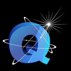Buchstabe futuristisch - Q