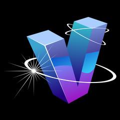 Buchstabe futuristisch - V