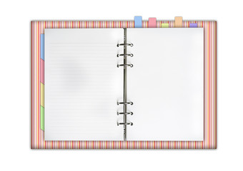 blank notebook with notepad