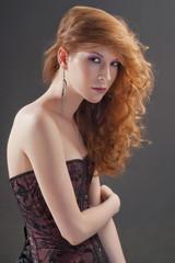 Beautiful red hair woman