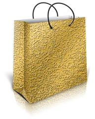 Gold gift bag