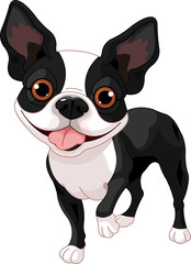 Canvas Prints Fairytale World Boston Terrier