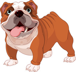 Canvas Prints Fairytale World English bulldog