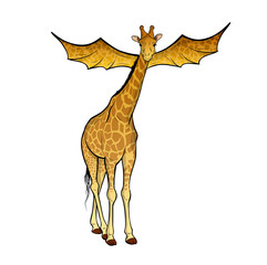 flying giraffe