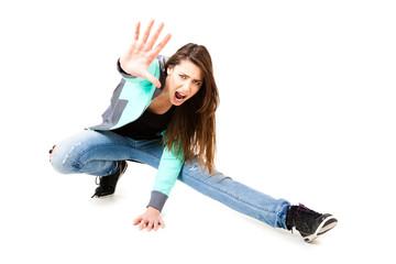 Teenager in dynamischer Pose