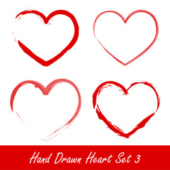 Hand drawn heart set 3