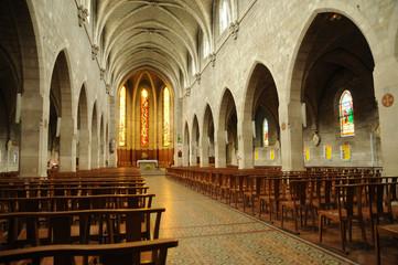 France, interior of Les Mureaux Church