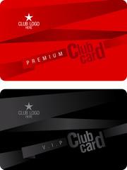 Club plastic card design template