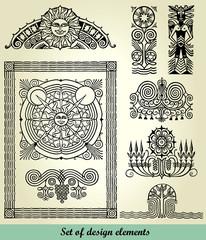 vintage elements - antique - vector set