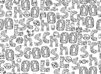 Seamless pattern for school design.
