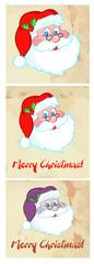Happy Classic Santa Head.Vector Collection