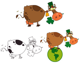 St Patricks Day Cow.Vector Collection