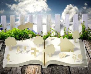 open book with new life