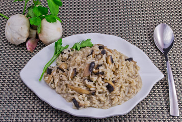 Risotto, champignon, mushrooms