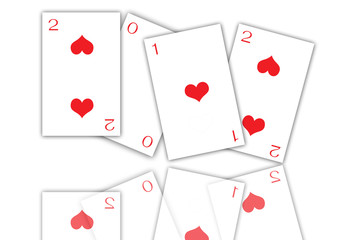 playing card 2012 new-year