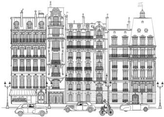 Canvas Prints Art Studio Paris - Facades